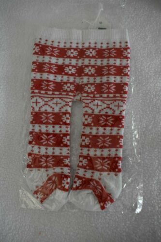 """Red /& White Scandanavian Tights Fits 18/"""" American Girl Kirsten Doll NEW"""