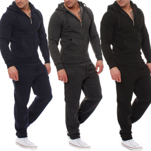 Men Tracksuit Jogging Top Pants Sport Suit Sets Hoodie Coat Trousers Outerwear