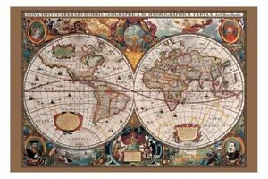 17th century old world map brand new with gold ink ebay image is loading 17th century old world map brand new with gumiabroncs Choice Image