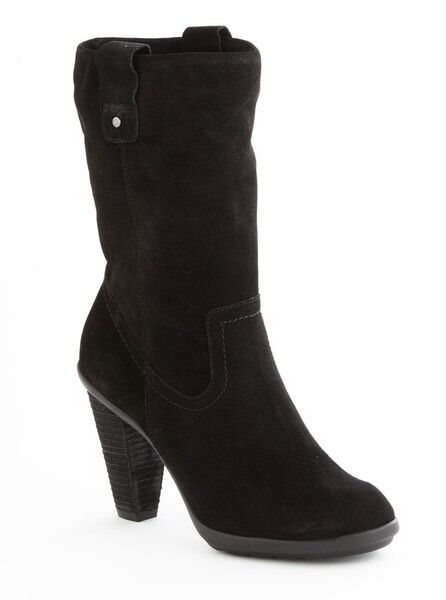 New Kenneth Cole REACTION Happy Hunt Women Boots Sz 9.5 Suede Black (MSRP  140)