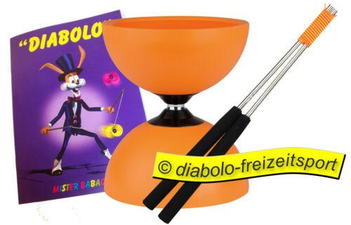 Henrys Jazz Diabolo orange inkl Aluhandstäbe Trickheft