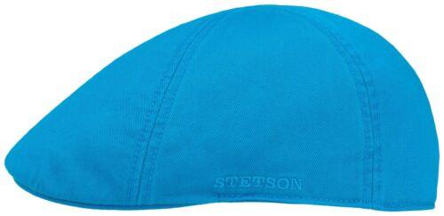 STETSON SUN GUARD ® DUCK IVY FLATCAP CAP KAPPE MÜTZE TEXAS 28 BLAU COTTON NEU
