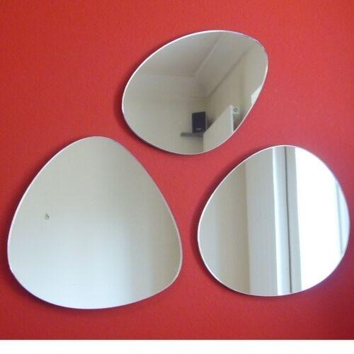 incassable sécurité Acrylique Miroir Plusieurs Tailles Trois galets en Forme Miroirs