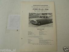 FO32--FORD ENGLAND ZEPHYR 2500 MARK II 1956 ,TECHNICAL INFO CAR VINTAGE OLDTIMER