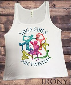 YOGA GIRLS ARE TWISTED x funny t-shirt training gym fitness