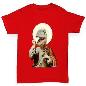 Twisted-Envy-Boy-039-s-Raptor-Jesus-Drole-T-shirt-en-coton