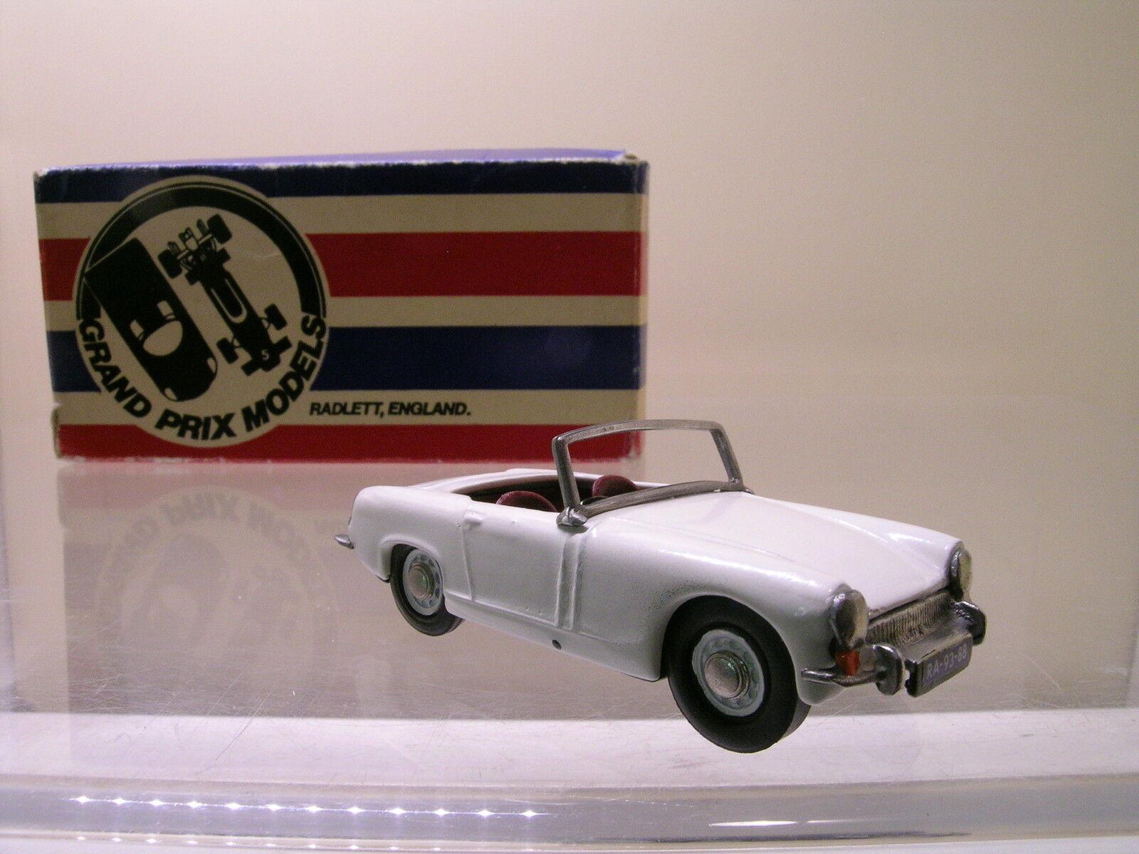GRAND PRIX MODELS 712 MG MIDGET ROADSTER 1965 WHITE METAL HANDBUILT BOXED 1 43