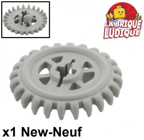 Lego technic 1x engrenage pignon gear 24 tooth Crown dent 90° gris 3650b NEUF