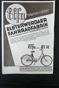 Age Print Advertising Elfa Bicycle Flyer Vintage Handzettel Collector