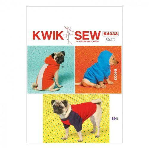 Kwik Sew Pets Easy sewing pattern 4033 Dog Coats kwiksew - 4033