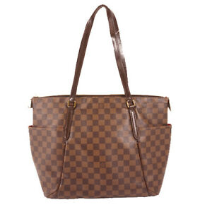 LOUIS-VUITTON-N41281-Tote-Hand-Bag-Totally-MM-Damier-Canvas-Used