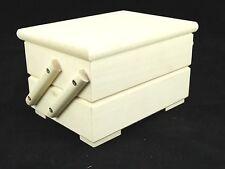 Small Plain Wood Sewing Box Storage Decoupage