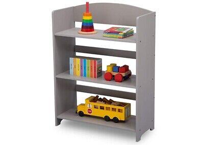best website f549a fb98a Small Kids Bookshelf Short Wooden Compact 3-Shelf Tier Grey Open Bookcase  NEW   eBay
