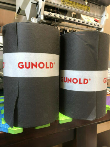 Black 1640NC Backing 37g Gunold 100m x 21cm Embroidery stabiliser Medium Weight.