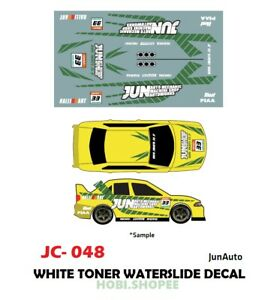Jc 9048 White Toner Waterslide Decals For Custom 1 64 Diecast Cars Ebay