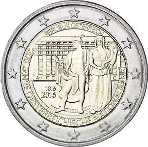 2 Euro Münze Wert 200 Jahre österreichische Nationalbank