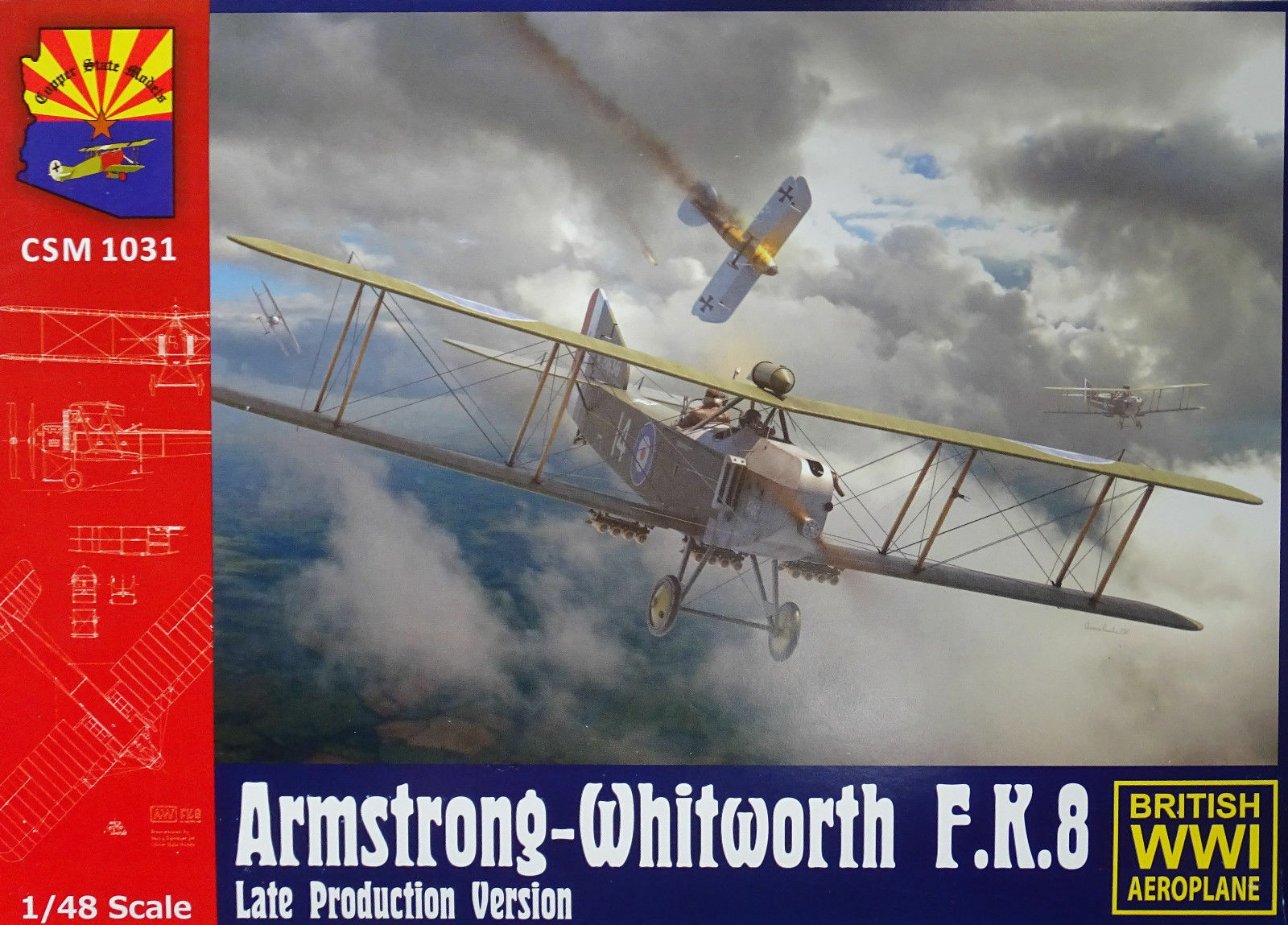 1 48 Copper State Models  K1031 - Armstrong-Whitworth F.K.8 Late version.
