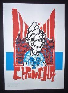 Grandmother-CHUNCHA-Cuban-Screenprint-Poster-Salutes-U-S-Cuba-Ties-COMICS-ART