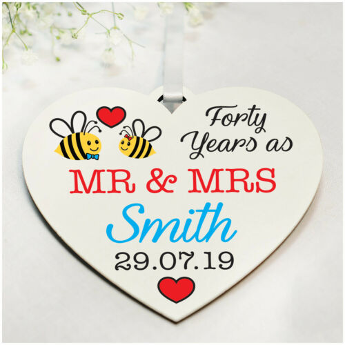 Wedding ANY Anniversary Date Gifts PERSONALISED for Wife Husband 1st 10th 50th