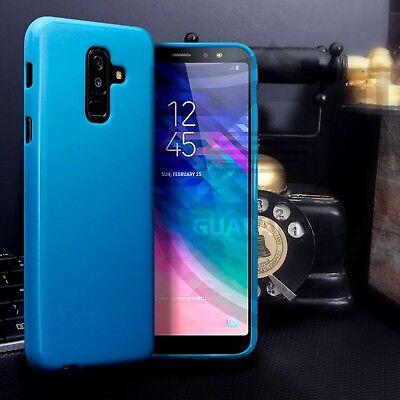 Basso Profilo Blu Opaco Custodia Gel Samsung Galaxy A6 2018- Pregevole Fattura