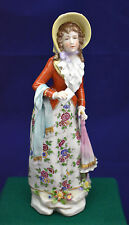 Antique Rare Ludwigsburg Porcelain Lady Figurine, Germany, Circa Late 1700s