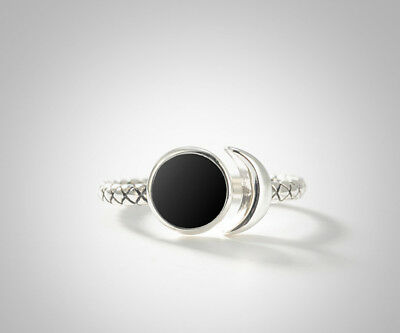 Amicable A02 Ring Moon Crescent Moon Sterling Silver 925 Adjustable Size Can Be Repeatedly Remolded. Precious Metal Without Stones Fine Jewellery