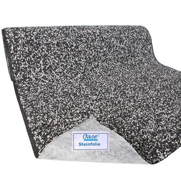 OASE Steinfolie Farbe granitgrau 0,4 m x 7 m für Bachlauf Teichfolie Teichrand