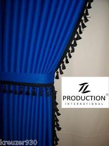 lkw scheibengardinen passend man tgs lx blau bommeln. Black Bedroom Furniture Sets. Home Design Ideas