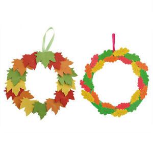 Educational-Toy-DIY-Kindergarten-EVA-Leaves-Hanging-Ring-Greeting-CardBDSE