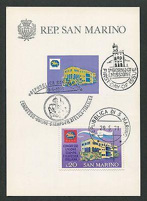 Briefmarken Konstruktiv San Marino Mk 1971 Kongreß Philatelie Maximumkarte Maximum Card Mc Cm D6605 Durchblutung Aktivieren Und Sehnen Und Knochen StäRken