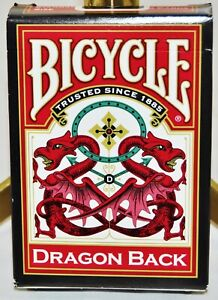Bicycle-Dragon-Back-Red-Standard-Size-Playing-Cards-Sealed-New-Deck-USPCC