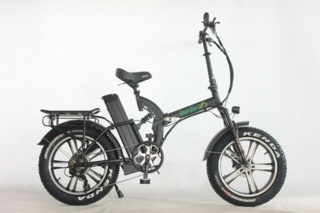 Green Bike Usa Low Step Fat Tire Folding Electric Bicycle 750w Motor 48v 15 4a For Sale Online Ebay