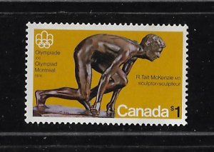 Canada Stamps — Olympic Sculptures: The Sprinter #656 — MNH