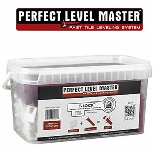 """1/32"""" T-lock Complete Kit Anti Lippage Tile Leveling System By 300 Spacers & 100"""