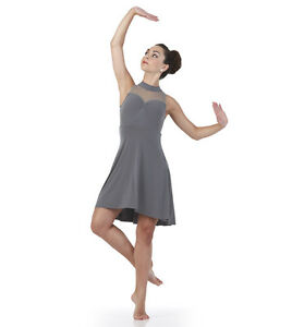 789c1b723 Gray BALANCE Lyrical Dance Costume Dress Ballet Girls Child 6X7 ...
