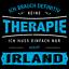 Therapie Irland Herren T-Shirt Spruch Urlaub Dublin Galway Irische See Lustig