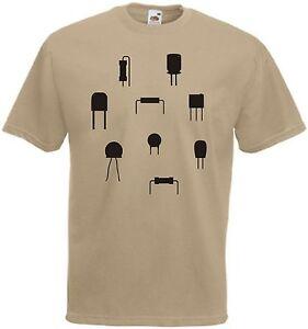 retro t shirt elektroteile transistor diode kondensator. Black Bedroom Furniture Sets. Home Design Ideas