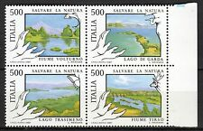 Italy - 1987 Protection of nature; Rivers & lakes - Mi. 2005-08 MNH
