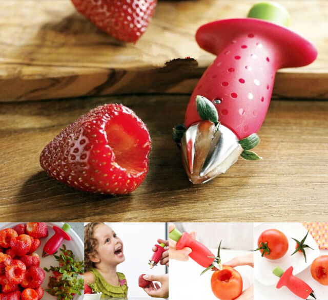 Funny Strawberry Stem Leaves Huller Remover Fruit Corer Kitchen Gadgets Tool