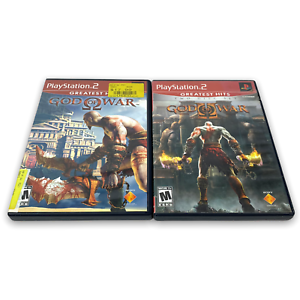 God of War 1 and 2 PS2 Sony PlayStation 2 Bundle Lot of 2 Games