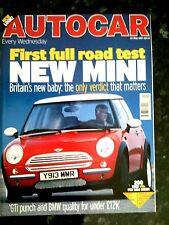 AUTOCAR MAGAZINE 23-MAY-01 - Mini Cooper, Renault Clio 172, Lotus Elise Mk2