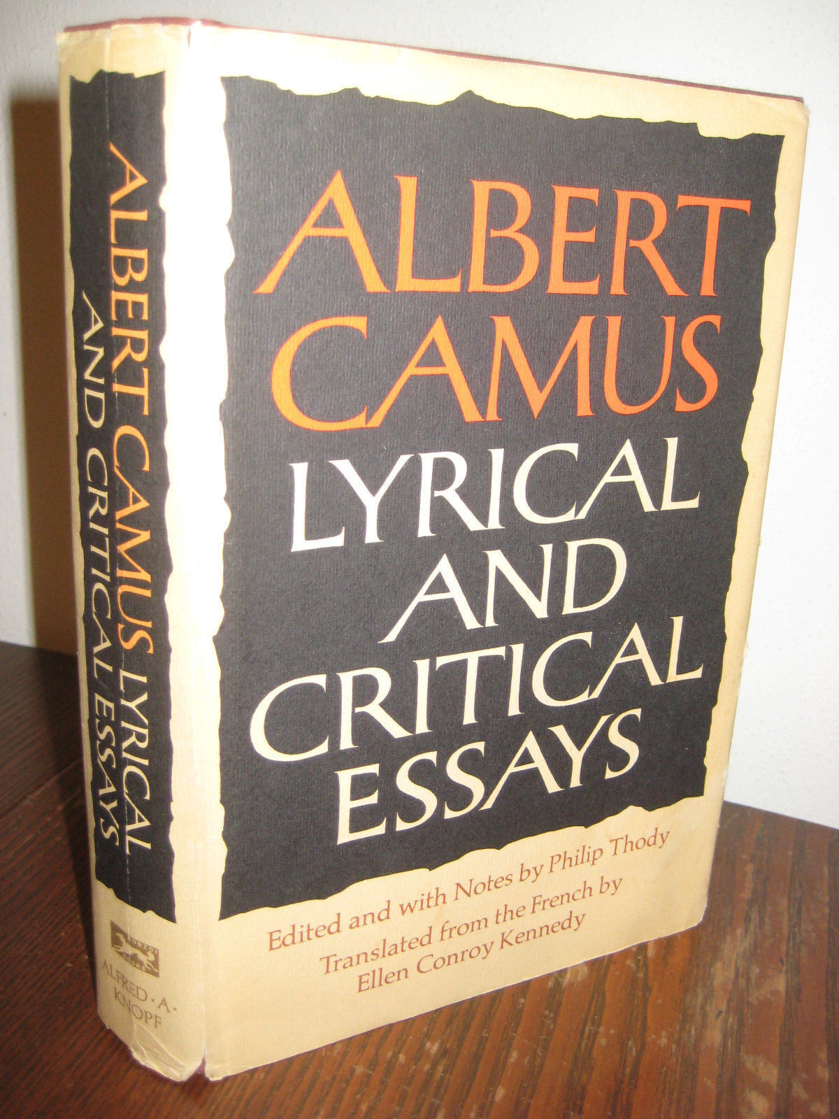 "lyrical and critical essays camus Albert camus is considered one of the greatest existentialist writers of all time however, although he was considered an existentialist writer, camus never labeled himself as an existentialist ""no, i am not an existentialist"" (albert camus: lyrical and critical essays, vintage (1970)) camus."