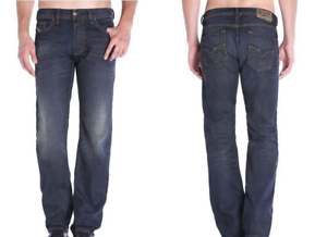 9d5c9272 DIESEL Regular Straight Leg bluee Jeans 0835H NEW NWT Dark Larkee ...