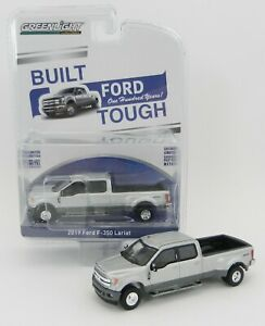 1-64-GreenLight-ANNIVERSARY-COLLECTION-Silver-2019-Ford-F350-Dually-Pickup-NIP