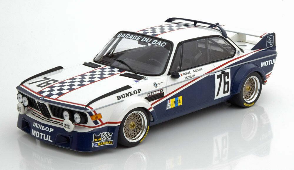 moda clasica Minichamps 1977 BMW 3.0 CSL 24h Le Mans Mans Mans depnic impulsor  76 450 un. 1 18New Edición Limitada   edición limitada en caliente