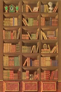 Details about 112 scale Natasha Beshenkovsky\u0027s Mini Decoupage , Trompe  l\u0027oeil Bookshelf b3