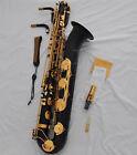 Professional black Eb baritone saxophone Low A High F# sax with case