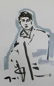 JOSE-TRUJILLO-Large-Acrylic-Painting-New-Art-Original-26x40-Silver-Figure-Man