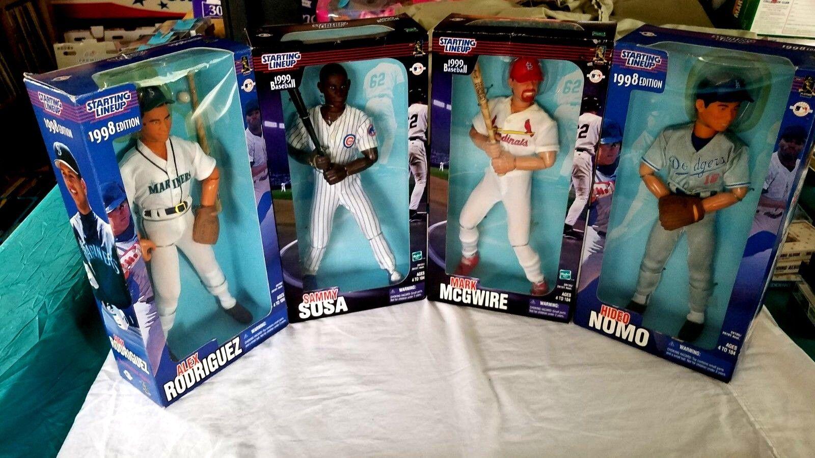 Figuras De Acción, béisbol, Conjunto de 4,'98 y'99 Estrellating Line Up