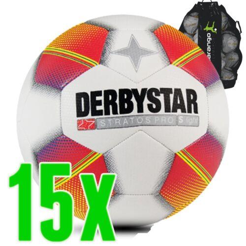 DERBYSTAR stratos pro S-Light blanc jaune rouge 15 Set de ballons jugendball